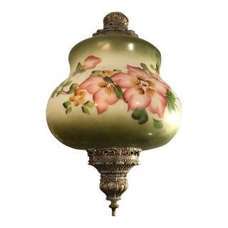 Hand Painted Vintage Pendant Light Fixture