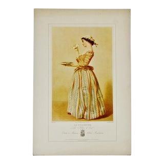"19th Century Parisian ""La Curieuse"" Fashion Lithograph"