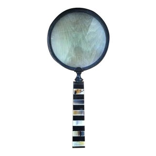 Brass & Marble Magnifying Glass