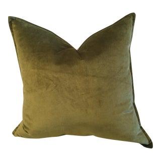 Moss Green Velvet Pillow