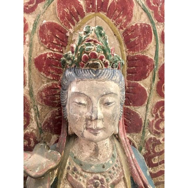 Antique Quan Yin on Elephant - Image 3 of 8