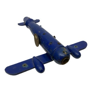Antique Belgian Carnival Target Airplane on Stand