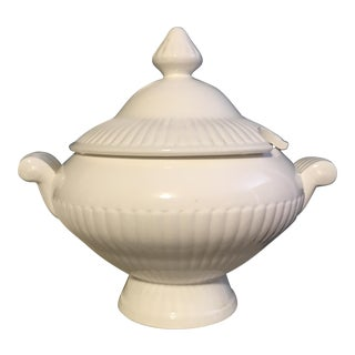Neo-Classical Revival China Soup Tureen & Lid