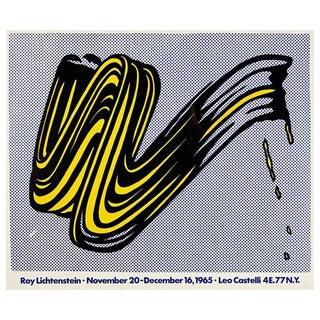 """""""Brushstroke"""" Poster by Roy Lichtenstein"""