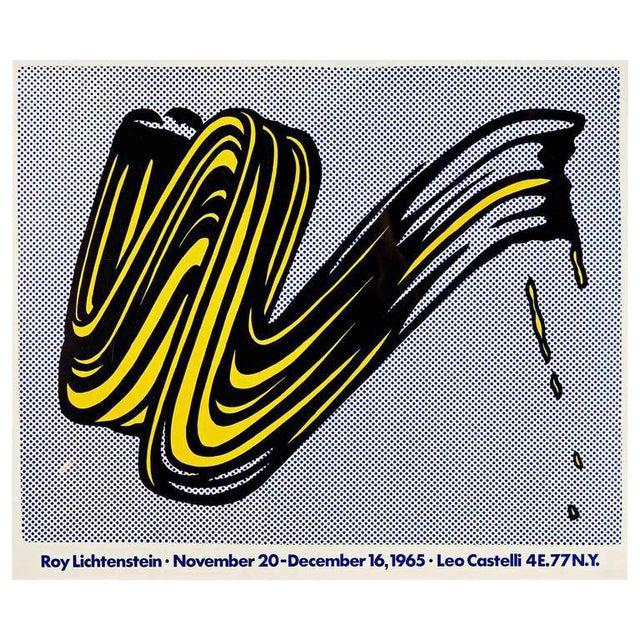 """Brushstroke"" Poster by Roy Lichtenstein - Image 1 of 3"