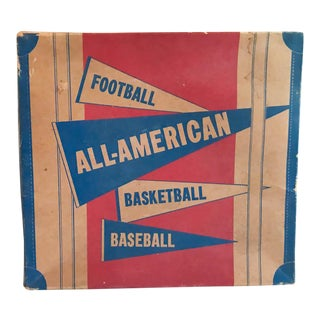 Mid Century Cardboard Sports Equipment Case - Display, Prop, Room Accessory