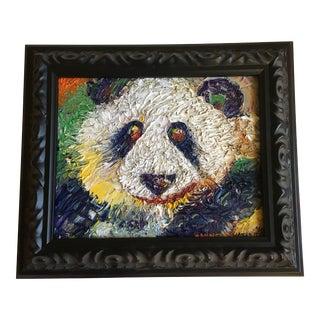 """""""Panda Bear"""" Original Oil Painting"""