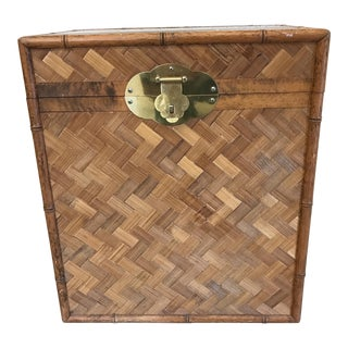 Bamboo & Herringbone Parquet Trunk Chest