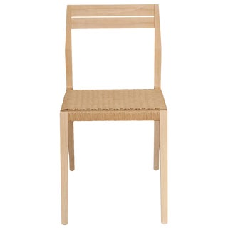 Stillmade Solid White Oak Dining Chair with Paper Cord Seat