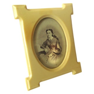 Victorian Celluloid Frame With Original Photo