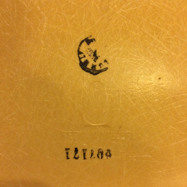 Image of Vintage Herman Miller Yellow Fiberglass Side Chair