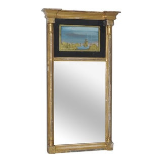19th Century Federal Painted Wall Mirror