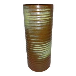 Vintage Frankoma Art Pottery Ribbed Vase
