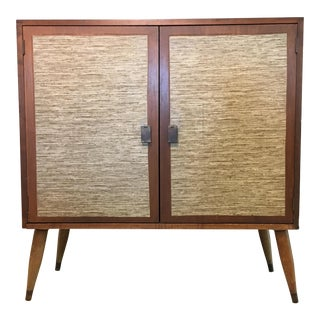 Mid-Century Cabinet with Woven Doors
