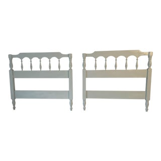 "Pair of Vintage ""Dixie"" Seafoam Green Twin Size Headboards C.1950s"