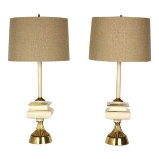 Vintage Hollywood Regency Lamps - A Pair