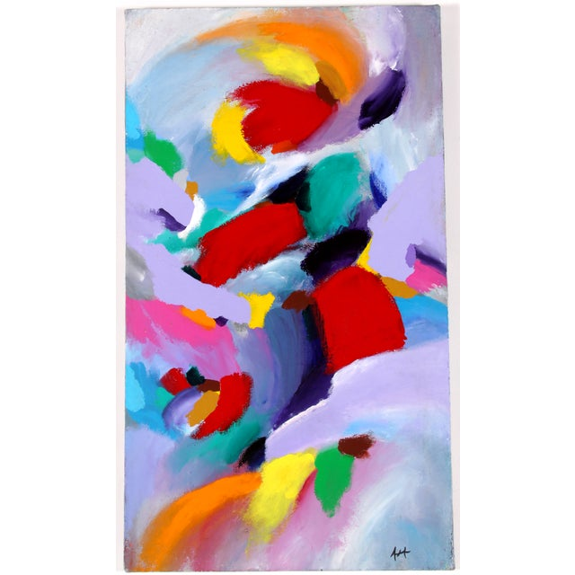 Waves of Color Acrylic Painting - Image 2 of 5