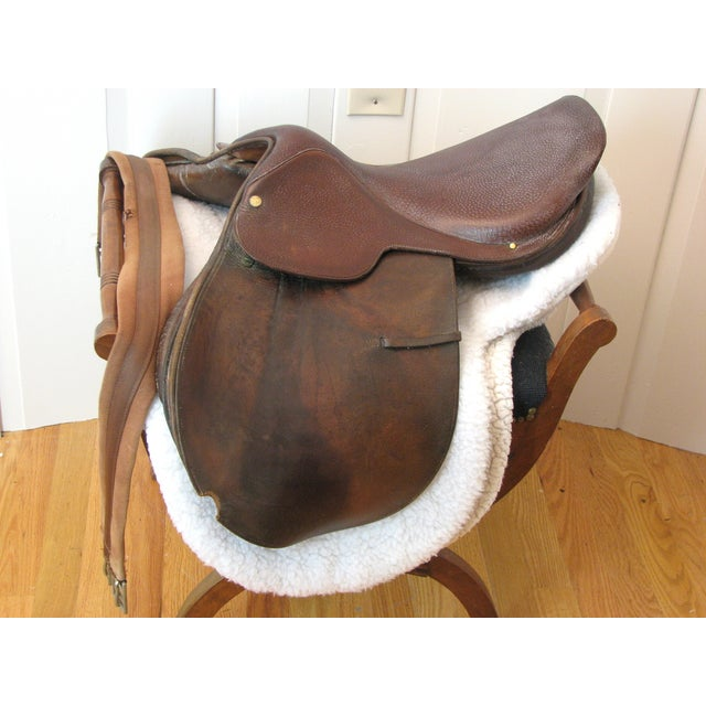"Crosby Millers 16.5"" Brown Leather Horse Saddle - Image 5 of 8"