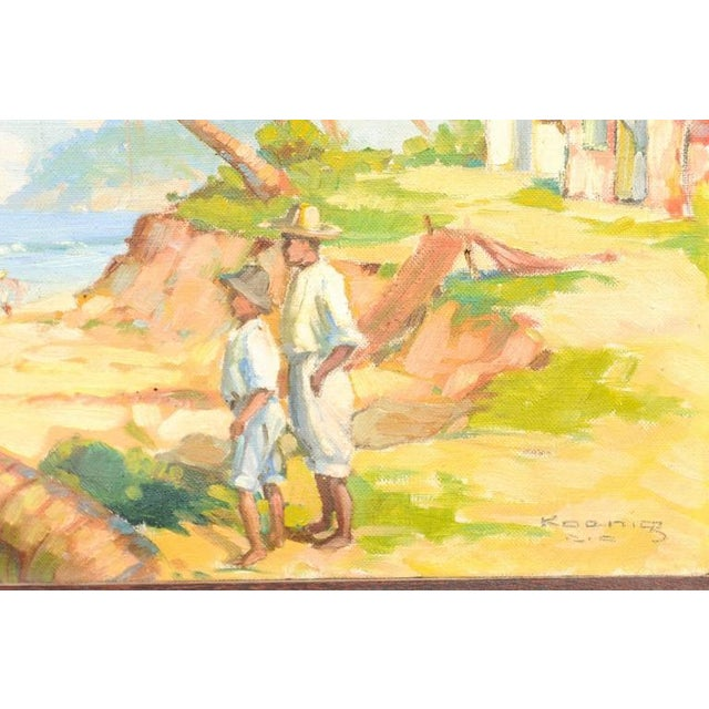 Island Landscape Oil Painting - Image 5 of 6