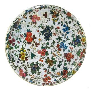 Vintage English Daher Floral Tray