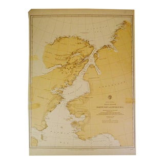 Antique 1885 Nautical Chart