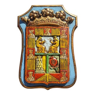 1960's Spanish Coat of Arms Plaque