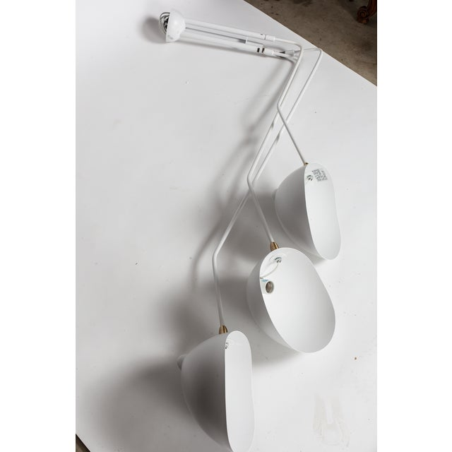 White Serge Mouille-Inspired Pendant Lamp - Image 3 of 4