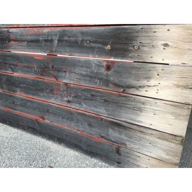 Antique Gray & Red Barn Door - Image 3 of 4