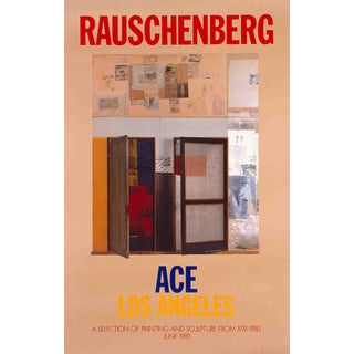 Robert Rauschenberg, A Selection of Painting and Sculpture, 1989 Poster
