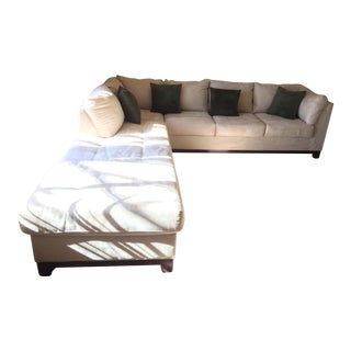 Contemporary White 3-Piece Sectional Sofa