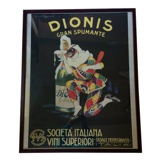 """Vintage 1950's """"Dionis Gran Spumante"""" Print"""