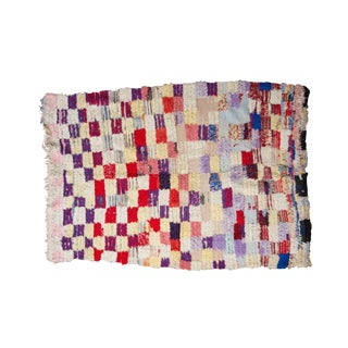 Purple & Red Boucherouite Rug - 3′9″ × 6′1″