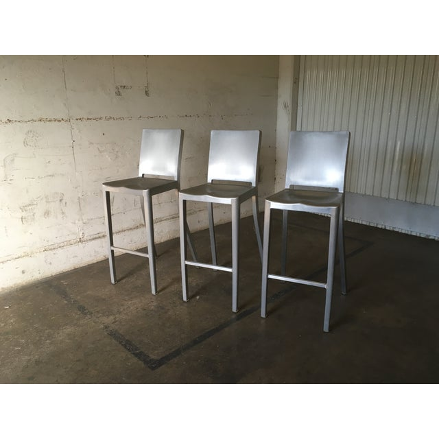 Philippe Starck for Emeco Hudson Bar Stools - Set of 3 - Image 3 of 10