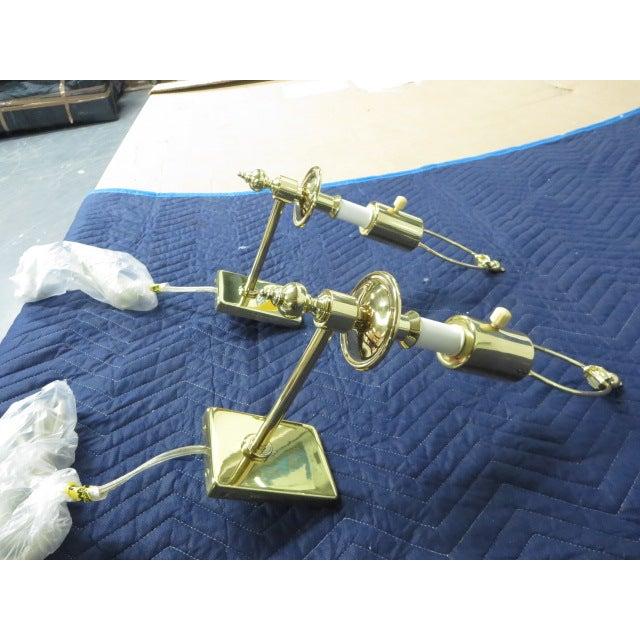 Image of Brass Single Arm Hinson Sconces - 2