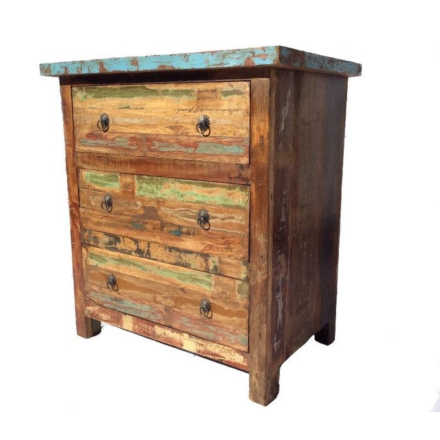 Reclaimed Wood Three Drawer Dresser - Image 2 of 3