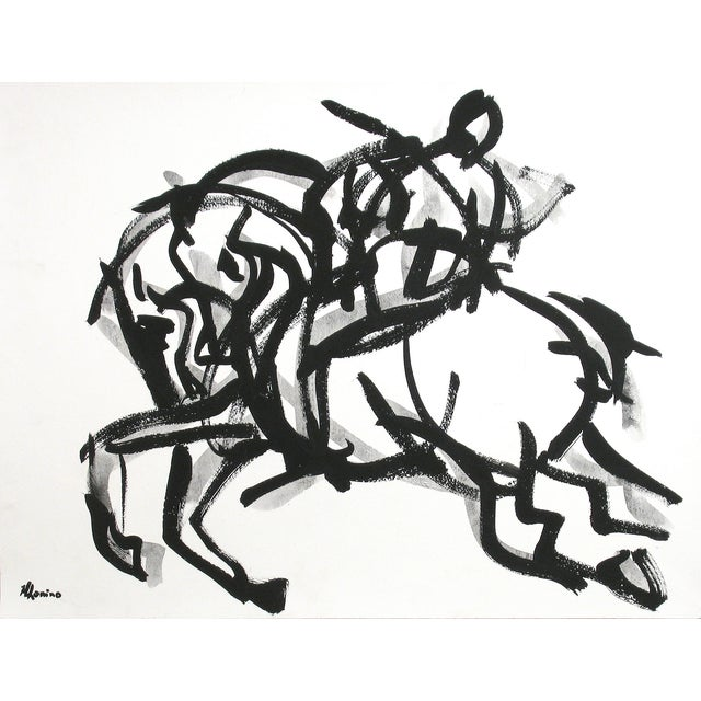 Image of Polo Rider I Painting by Heidi Lanino