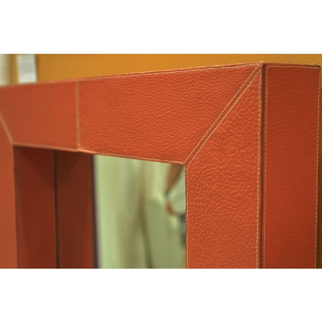 Made Goods Orange Leather Brooke Mirror Chairish