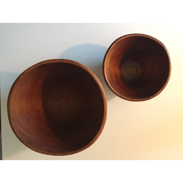 Mid-Century Carved Wooden Bowls - 2 - Image 3 of 8