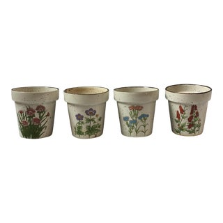 Vintage Herb Planter Pots - Set of 4