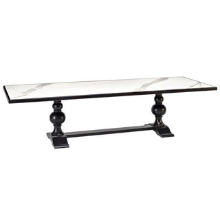 Sarried Ltd White Marble Top Dining Table