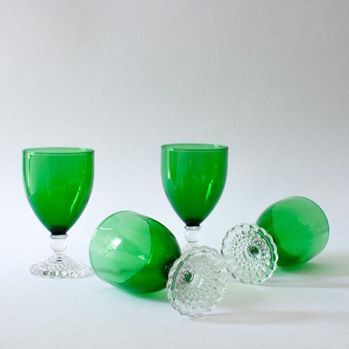 Emerald Wine Goblets - Set of 4 - Image 4 of 4