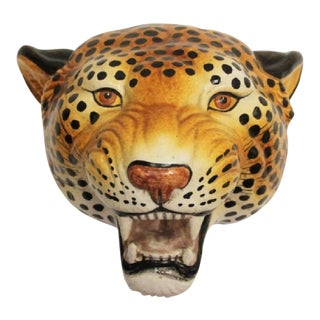 Mid-Century Italian Cheetah Wall Sculpture