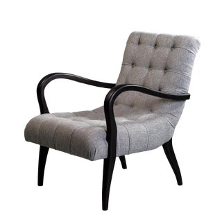 Spectra Home Contemporary Marin Silver Tufted Chair