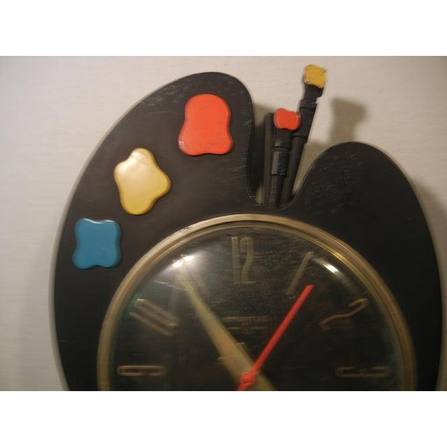 Art Deco Paint Palette Clock - Image 3 of 6