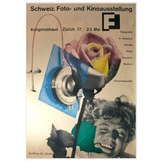 1951 Swiss Exhibition Poster, Honegger-Lavater