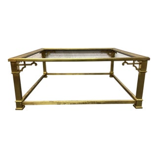 Vintage Mastercraft Brass Coffee Table
