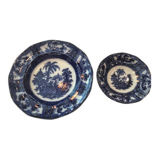 Adams & Sons Kyber Flo Blue Bowls - Set of 2