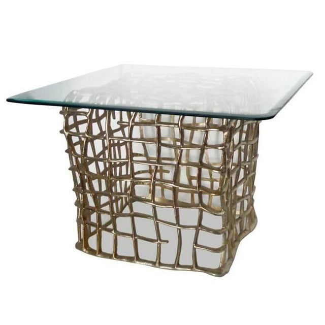 Accents End Table With Square Glass Top - Image 1 of 4