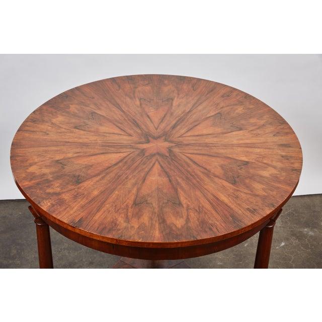 Italian Empire Deep Brown Walnut Center Table - Image 7 of 9