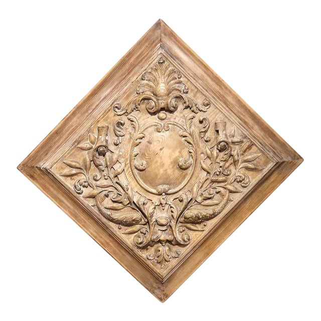 19th C. French Carved Plaque - Image 1 of 9